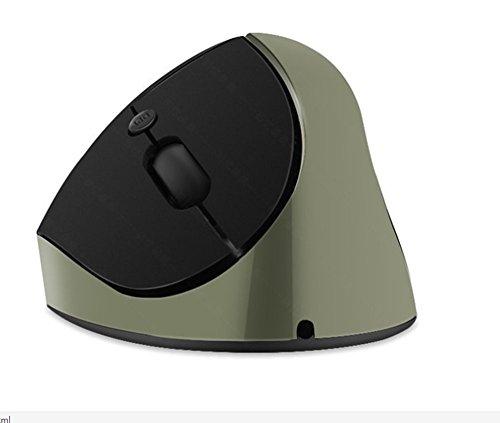CCLOON Draadloze Verticale Muis Ergonomische Verticale Muis 2,4 GHz Optische Muis Verlicht Hand Vermoeidheid Grip Muis voor Windows XP/7/8/10 Mac, Grijs