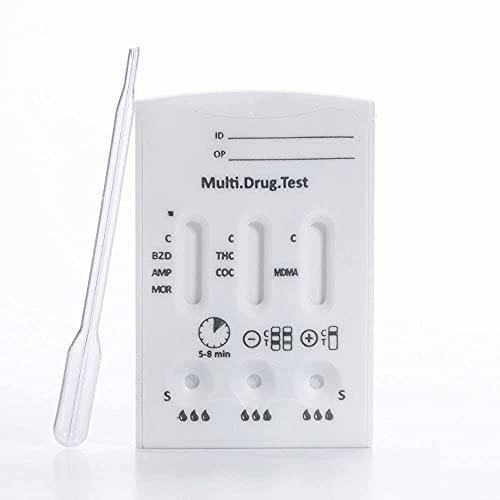 Multi-Drogentest Multi 6 TG (testet auf 6 Drogen) Schnelltest - Drug-Detect - 1 Testkarte