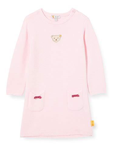 Steiff Baby-Mädchen mit süßer Teddybärapplikation Kleid, Rosa (Barely Pink 2560), 068