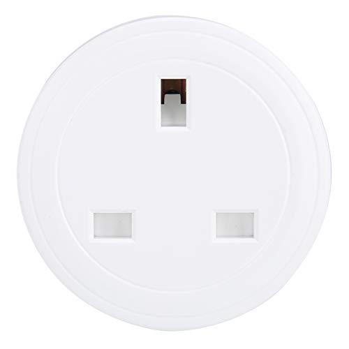Enchufe, Enchufe WiFi de 100-240 V ntelligent Mini WiFi Enchufe Inteligente Enchufe Oulet con Control Remoto de Voz APLICACIÓN Enchufe del Reino Unido