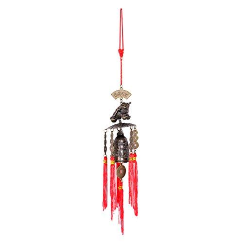 Sharplace Carillon à Vent Pendentif Style Chinois Vintage Ornement Pendentif de Maison Bureau - Modèle 02