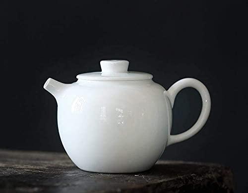 NBXLHAO Tetera de Porcelana Blanca Tetera de cerámica pequeña Tetera Individual para el hogar Juego de té Kung Fu Tetera de Agarre Manual Teteras