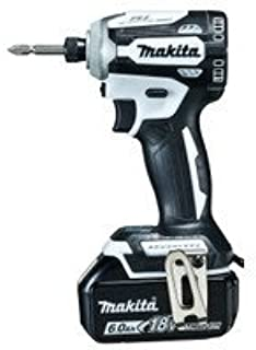 マキタ(Makita) 充電式インパクトドライバ(白) 18V 6Ah バッテリ2本・充電器・ケース付 TD171DRGXW