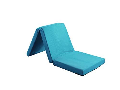 Visco Therapy Badenia Guest Folding Mattress 3pcs Folding Day Bed/Futon Mattress (Turquoise)
