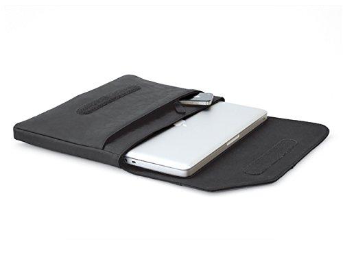 Cool Bananas Oldschool Hülle MacBook 12 Zoll & andere Laptops/Notebooks 11/12 Zoll, Tasche Retro-Erscheinungsbild, Hülle, Sleeve mit zusätzlichem Fach für Zubehör