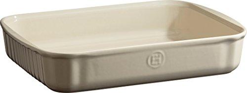 Emile Henry Eh029680 Moule Rectangulaire Céramique Beige Argile 34 X 24 X 6,5 cm