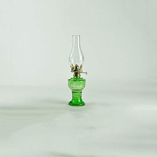 Vert en verre transparent avec pare-brise de base classique Kérosène Lampe industrielle Vintage Antique lampe à huile Accueil bureau Lanterne Portable d'urgence Lumière d'urgence for une panne d'élect