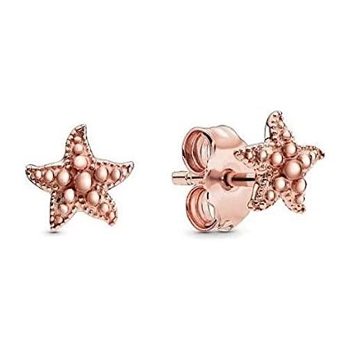 Pendientes de plata de ley 925 pendientes de ancla de rosa joyería de la boda