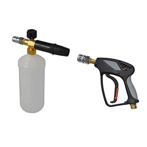 pwmunf Kit de Lanza y Pistola de Espuma PA Olla para Lavadora de Alta Presión Profesional Máquina de Limpieza de Lavadoras de Automóviles Herramientas de Piezas de Automóvil (Color : Black)