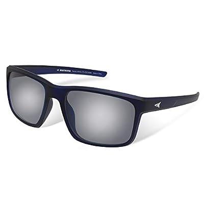 KastKing Toccoa Polarized Sport Sunglasses for Men and Women, Matte Midnight Blue Crystal Frame, Smoke Base White Steel Mirror