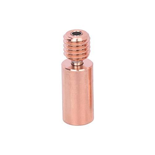 HUANRUOBAIHUO Impresora bimetálica de Pausa de Calor aleación de Cobre V6 Garganta por V6 Hotend Bloque Calentador I3 MK3 3D de Piezas de 1,75 mm Filamento componentes extrusoras