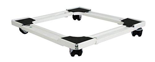 bcalpe 800032–Supporto frigorifero quadrato estensibile, colore: bianco/nero