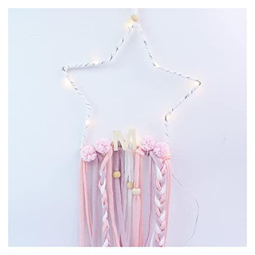 Perlas De Forma De Estrella Borlas con Lámpara LED Dreamcatcher Kids Gilrls Decoración De La Habitación Decoración De Viveros Adornos De Colgantes
