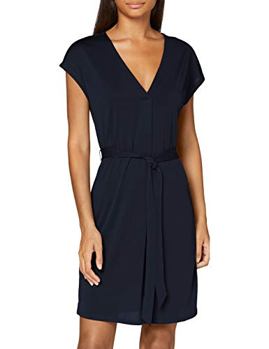 VERO MODA Damen VMBECA SS Wide Short Dress JRS Kleid, Navy Blazer, M