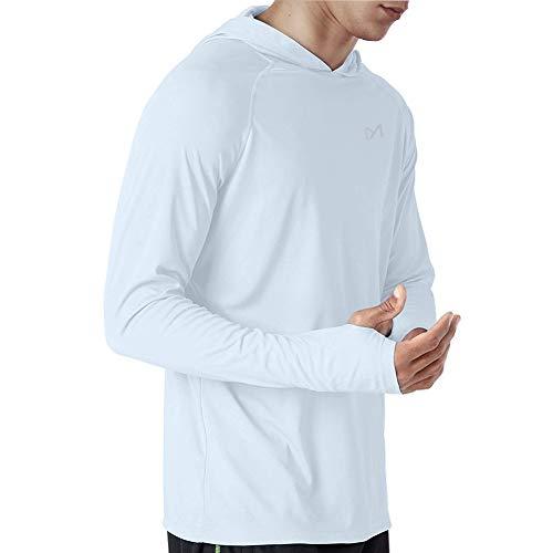 MEETYOO Rash Guard Herren, UV-Schutz Shirt UPF 50+ Langarmshirt Schwimmshirt Männer Badeshirt für Schwimmen Running Surfen Sport