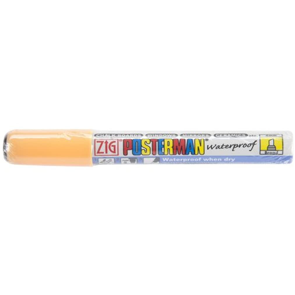 Zig 6mm Posterman Broad Chisel Tip Marker, Fluorescent Orange