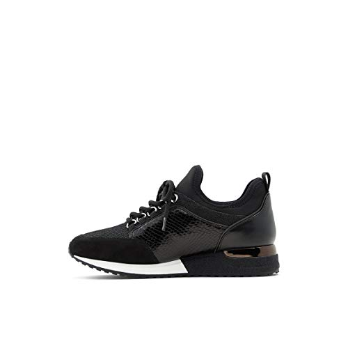 ALDO womens Courtwood Lace-up Fashion Lace Up Sneaker, Black, 7.5 US
