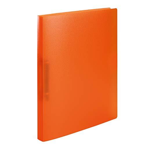 HERMA 19162 Ringbuch DIN A4 Transluzent Orange, 2 Ringe, 25 mm breit, schmaler transparenter Ringbuchordner aus stabilem Kunststoff, 1 Ringbuchmappe
