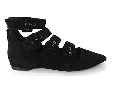 ASH Ballerina Midnight Black Baby Soft Scamosciate Taglia 37 (40 EU)
