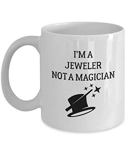N\A Juwelier Becher - Ich Bin EIN - kein Zauberer - Lustige Neuheit Keramik Kaffee & Teetasse Männer oder Frauen mit Geschenkbox
