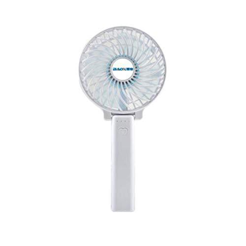 LKK-KK Pequeño ventilador, mini, interfaz USB, la lámpara de carga plegable del ventilador, de mano Viento silencioso, Oficina de escritorio, portátil Estudiante, creativo pequeño ventilador (Color: B