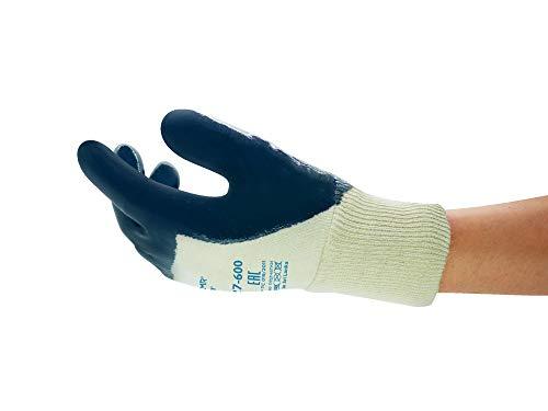 Ansell ActivArmr 27-600 Guanto Oleorepellente, Protezione Meccanica, Blu, Taglia 10 (12 Paia)
