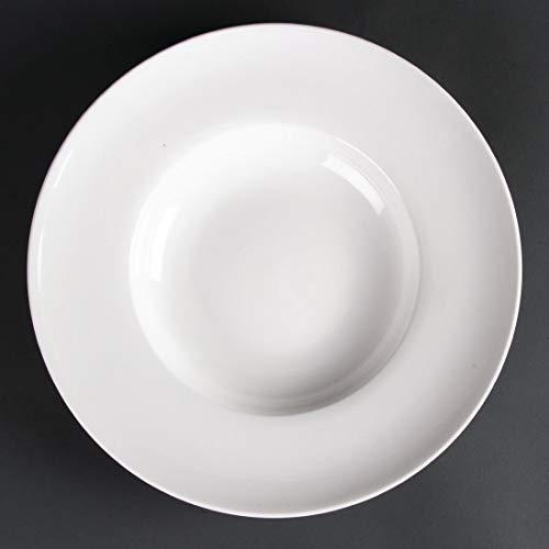 Assiettes creuses en porcelaine fine 310mm Lumina Dimensions : 310mm. Quantité par boîte : 2.