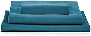 MyPillow Bed Sheet Set 100% Certified Giza Egyptian Long Staple Cotton (Twin, Lake Blue)