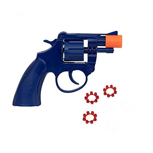 D.A.Y. Republic 8 Shot Ring Cap SWAT Plastic Blue Toy Revolver Pistol Gun,...
