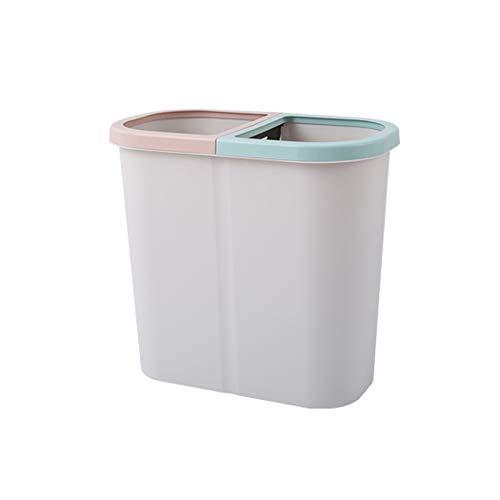 XVXFZEG Cocina de basura de la basura de clasificación puede, baño gris grande bote de basura, basura Plaza PP descubierta Caja de almacenamiento, marco de hogares Sala Yushi Oficina de Diseño Cesta P