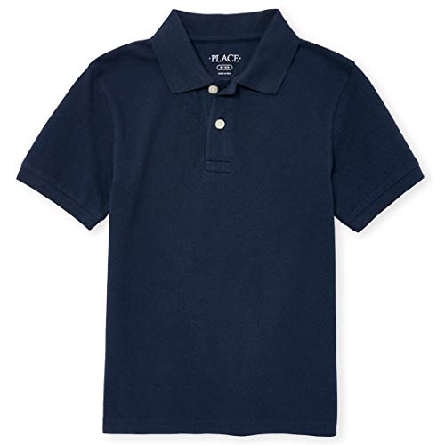 The Children's Place Big Boys' Short Sleeve Uniform Polo, Nautico 4756, Medium/7/8