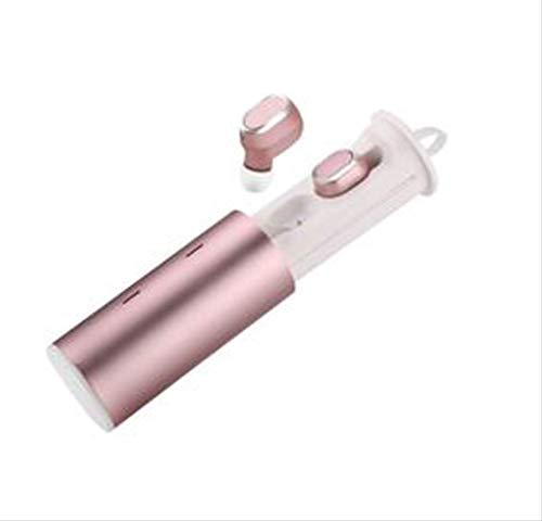 TWS Auricular Bluetooth con Mini Auriculares Inalámbricos Binaurales, Ultra Larga Espera, Almacén De Carga Inalámbrica Oro Rosa