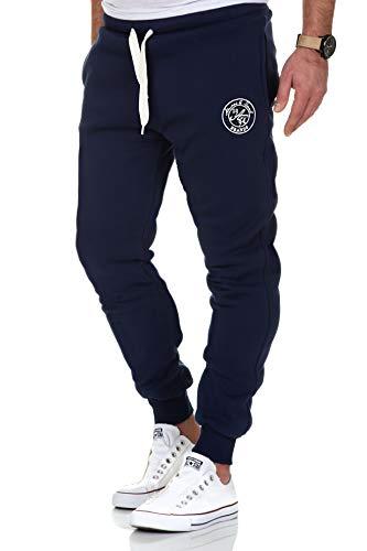 Amaci&Sons Herren Jogginghose Sporthose Sweatpants Jogger Trainingshose 20002 Navyblau M