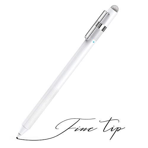 MEKO Pennino Digitale monouso 1,6 mm con Punta in Fibra Universale 2 in 1 Perfetto per Il Disegno e la Scrittura a Mano Compatibile con Apple iPad iPhone Tablet-White