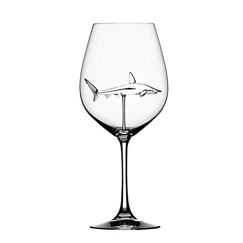 ZHAOOP Crystal Glass Shark Wine Glass bar Exclusive Wedding Reception Wine Glass Wine Glass