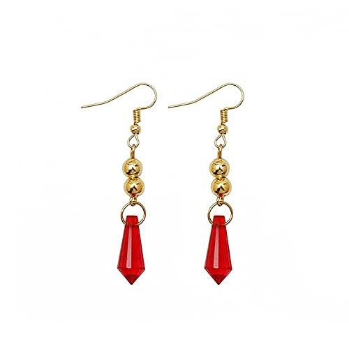 Aoten Red Crystal Earrings - Orecchini pendenti da donna alla moda