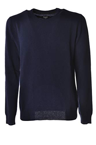 WOOLRICH Maglia Uomo WOMAG1737 Supergeelong Crew Neck Blu Polvere tg (L)