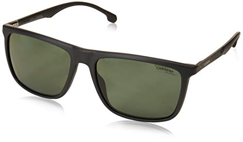 Carrera sunglasses (8032-S SUBUC) Matt Black - Grey green polarised lenses