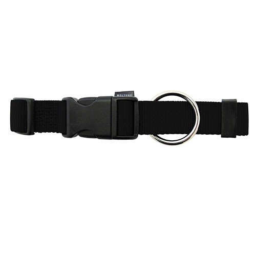 Wolters Halsband Basic Schwarz S-XL - Hundehalsband, Format:L 40-55 cm x 20 mm