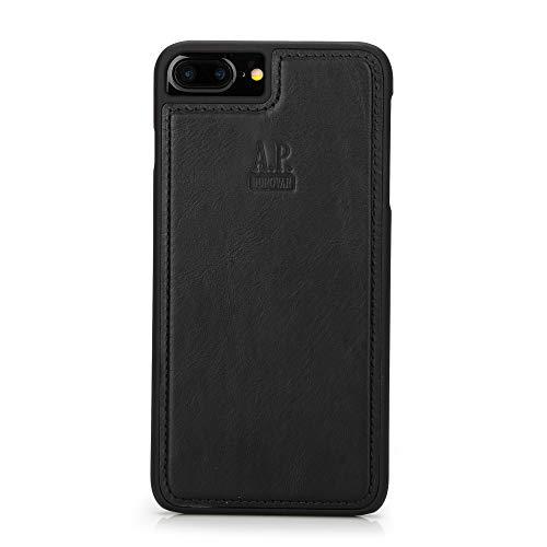 A.P. Donovan - Custodia per iPhone 6/7/8 Plus ︎ in Pelle ︎ Custodia per telefoni cellulari ︎ Custodia in Pelle ︎ Copertura Posteriore ︎ Custodia Protettiva ︎ in Pelle ︎ iPhone ︎ Custodia ︎ Nero