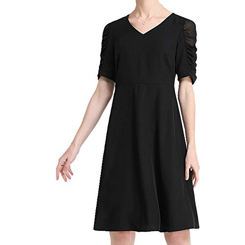 N\P Vestido de verano para mujer grande con cintura delgada y versátil