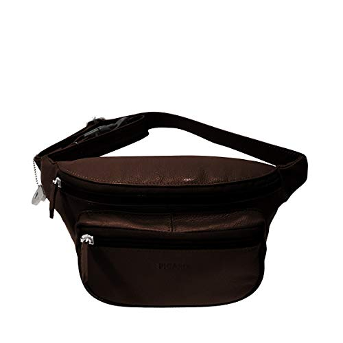 Picard Bum Bag with frontal patch pocket Luis cuir 12 x 20 x 6 cm (H/B/T) Unisexe sacs bananes (8653)
