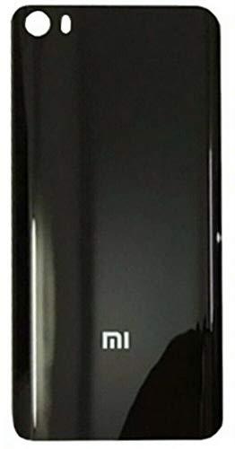 Desconocido Tapa Batería para Xiaomi Mi 5, Mi5, Cristal Trasero Cubierta Trasera (Negro)