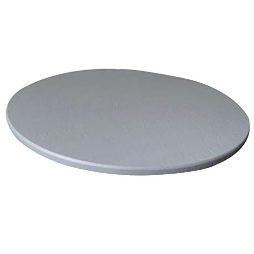 perfk Copritavolo Impermeabile Tovaglia Aderente Antiscivolo con Supporto in Poliestere Adatto Fino A 120 Cm / 48 Pollici di Diametro. Tavola Rotonda - Grigio, 120 cm Max