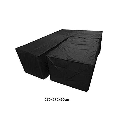 rainnao 2 Stücke Abdeckung für Gartenmöbel L Form, Schutzhülle für Loungemöbel, Wasserdichtes Staubdicht Schutz vor Wind UV, für Outdoor Garten Möbel, 270x270x90cm