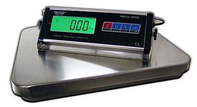 mancelboutique Báscula de Plataforma Industrial con Bandeja Acero Inoxidable, 35,5 x 40,5 cm, Capacidad: 60 kg, Lectura: 20 g