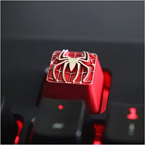 F-Mingnian-rsg Partes del Teclado keycap 1pc Keycap Personalizado en Relieve Aleación de Zinc Keycap para Juego Teclado mecánico High-End Unique DIY para C Keyboard Universal (Color: 5)
