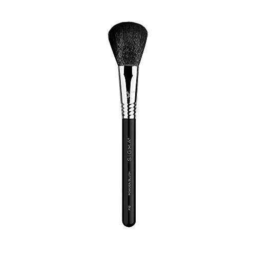 Sigma Beauty Professional F10 Powder synthetic Face Makeup Brush SigmaTech fibers for Blending Foundation and Loose Powder Makeup