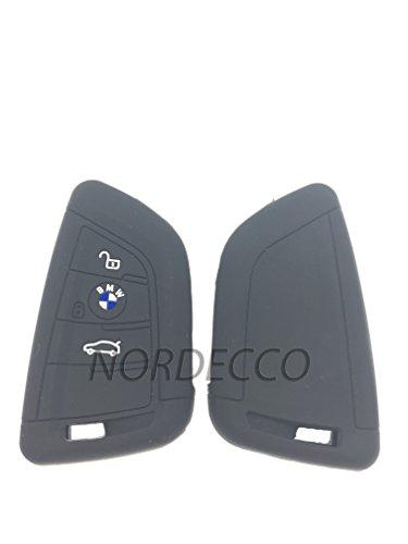 Coque de protection en silicone de qualité supérieure pour clés - Technologie intelligente et sans fil - Avec biper 3 ou 4 boutons - Adaptée aux modèles de BMW - Noir