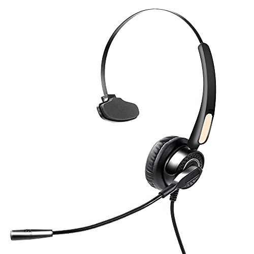 Festnight Kommunikation Headset-Geräuschunterdrückung und Mono-Ohr-Headset-Kompatibilität Leichter und praktischer Gehörschutz USB-Anschluss